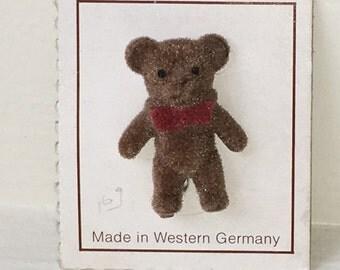 Miniature Brown Bear Pin (JL)