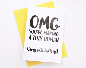 New Baby, Baby Shower, Congratulations Card