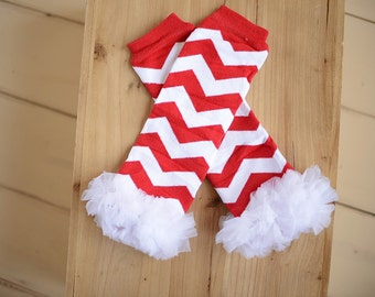 Christmas Leg warmers, Red and White leg warmers, Holiday leg warmers, Leggings, Baby Leg Warmers, Baby Leggings, Baby Leg Warmers Girl