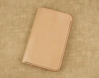 Fenner CRAFTS Handcrafted 'Urban Adventurer' Leather Notebook Cover - for Moleskine Cahier Volant Pocket 9x14cm / Field Notes Memo - Natural