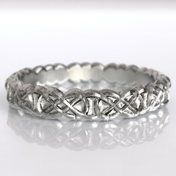 Celtic Infinity Symbol Design in Sterling Silver, Made in Your Size CR-1070