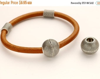 35% OFF Beaded 5MM Round Magnetic Clasp - Antique Silver - For use with 5mm  Round Leather - Qty 1