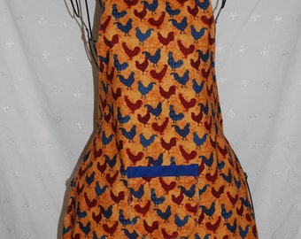 Full Apron, Red, Blue and Gold