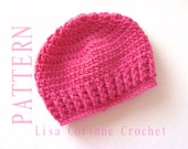 Easy Baby Hat Crochet PATTERN, Baby Girl Hats PATTERN