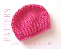 Easy Baby Hat Crochet PATTERN, Baby Girl Hats PATTERN