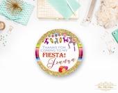 Mexican Fiesta Birthday Favor Tags, Fiesta Favor Tags-YOU PRINT