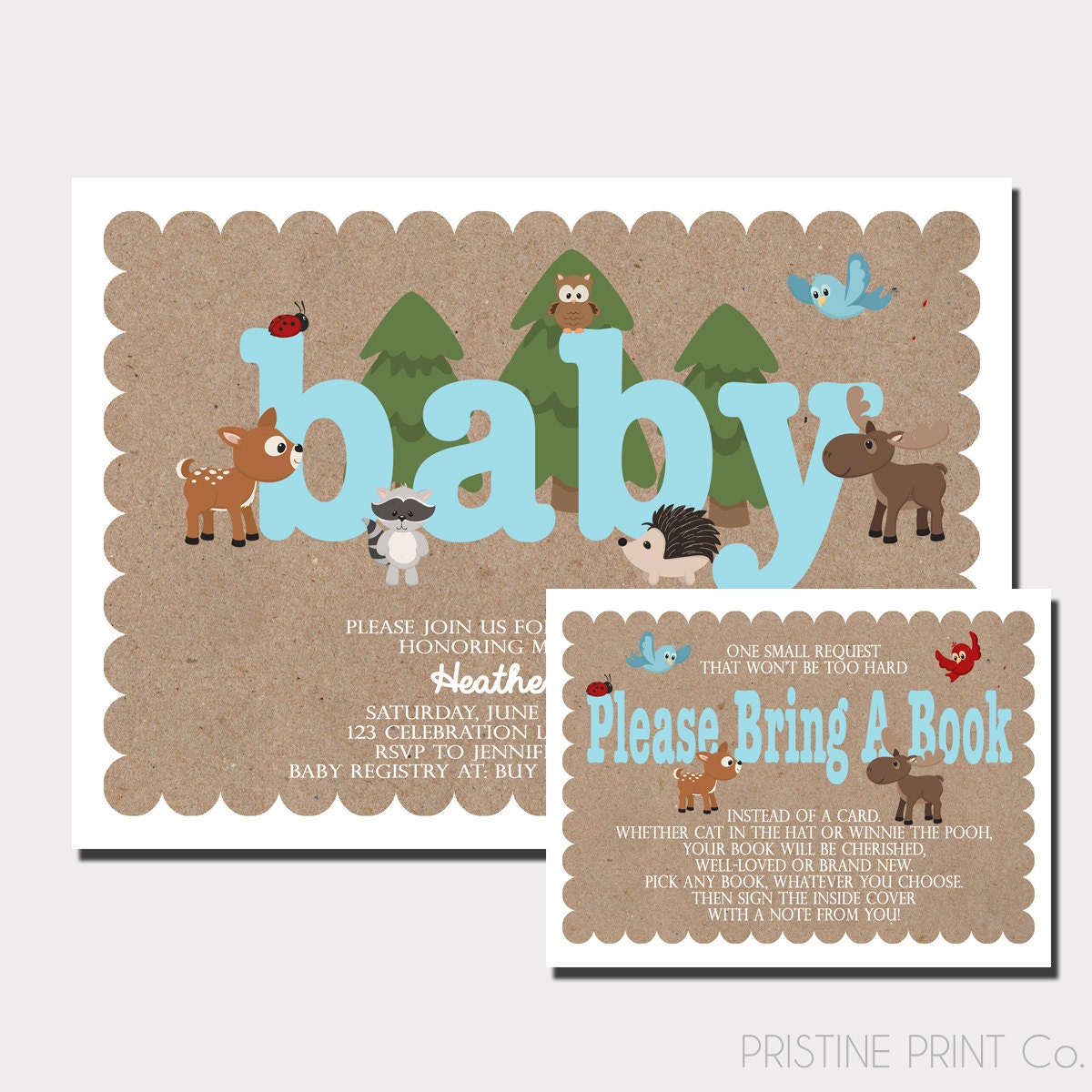 woodland animal baby shower invitation woodland baby shower