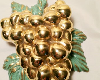 vintage grape cluster and leaves door knocker,  shabby chic.French cottage, country