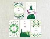 Holiday Gift Tags, Printable Gift Tag, Christmas Gift Tags, Gift Wrap, Modern Holiday Tags, Gift Tags, Printable Holiday Tags