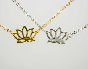 yoga lotus necklace