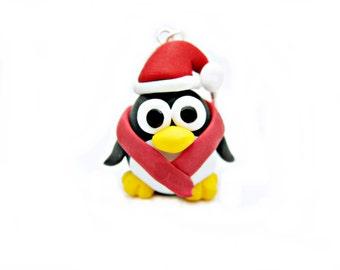 penguin charm necklace