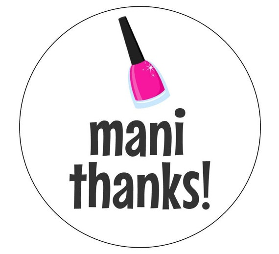 Invaluable image pertaining to mani thanks printable