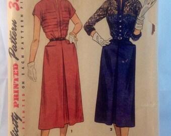 Simplicity Vintage 1952 Dress Pattern Size 16 Bust 34