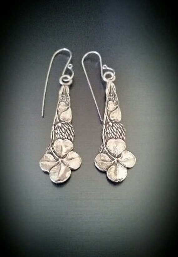 Vintage Sterling Four Leaf Clover Earrings