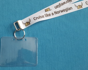 Lanyard - Cruise Like a Norwegian - for Norwegian Cruise - Non-scratchy - Child or Adult