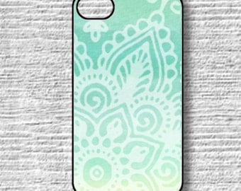 Mint iphone 6 plus case, Mandala iPhone 5s Case, Mint Ombre, Rubber iphone case, Samsung Galaxy s7, Galaxy S5