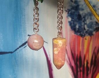 Fancy Jasper Pendulum (Pink Tones)