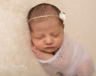 Newborn Wrap, Mohair Wrap, Mohair Crochet Wrap, Wool Wrap, Baby Wrap, Photo Prop, Cocoon, Accessories, Wrap, Newborn Prop, Mohair, White