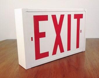 "Vintage ""New"" Metal Exit Sign"