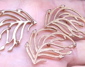 fancy  bronze cast leaf