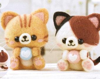 Cute Kitten Duo Needle Felting Kit