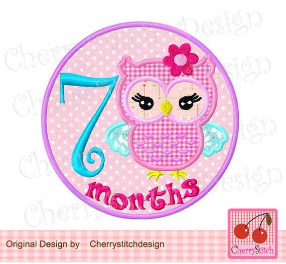 Happy 1 Month Old Baby Girl Quotes: New BabyBaby 7 Months With Cute Girly OwlBaby 7th