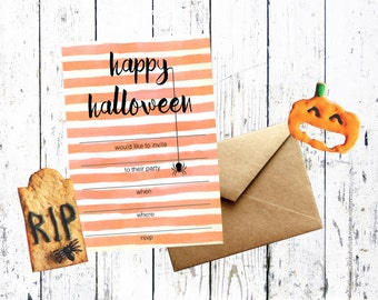 Halloween Invitation Printable