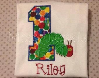 BOYS Hungry Caterpillar Birthday Shirt~The Very Hungry Caterpillar