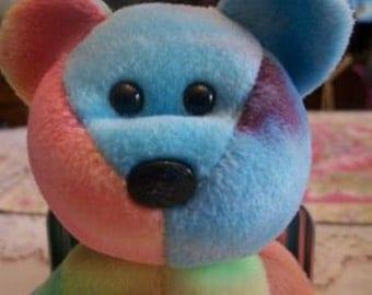 Ty Beanie Babies Tie Dye Peace Bear