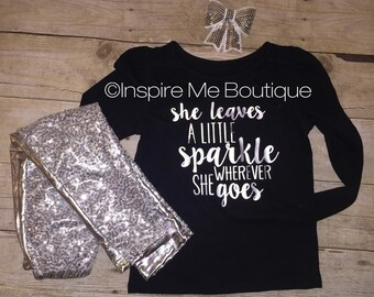 She leaves a little sparkle shirt