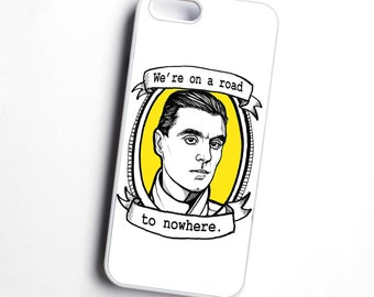 Talking Heads, David Byrne, 'We're on a road to nowhere', illustrated phone case -YELLOW - various models available