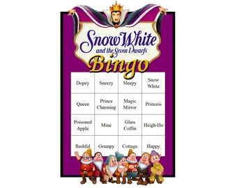 Snow White and the Seven Dwarfs Themed Bingo Set