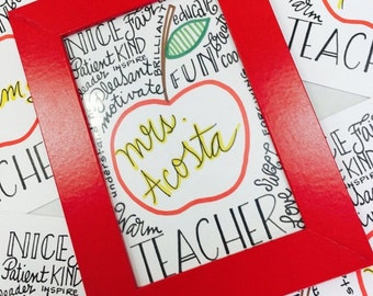 Teacher appreciation prints, gifts for teachers, personalized gifts for teachers