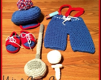 Crochet Baby Golf FULL Outfit for Boys/Photo Prop