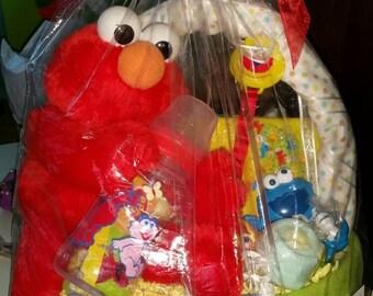 Sesame Street Diaper Basket