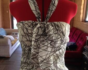 Wayne by Wayne Cooper size 6 ruffle pattern dress