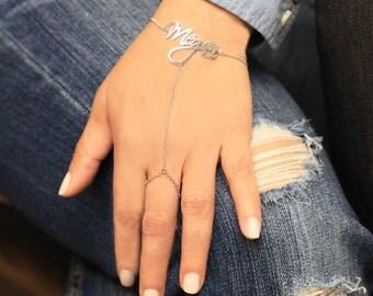 Personalized Name Finger Bracelet - CT1865