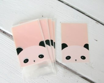 25 Pink Panda Cellophane Bags | Panda Party Favor Bags | Panda Treat Bags | Panda Party | Zoo Party
