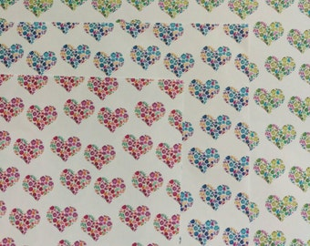 Floral Hearts Wrapping Paper Set