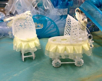 Baby Pacifier Baby Shower Plastic Carriage Favor Decoration 12 Ct
