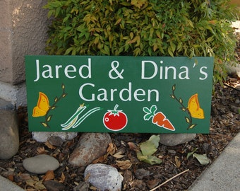 Personalized Garden Engraved Outdoor Sign, Gardeners Gift