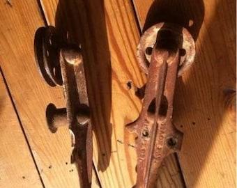 Vintage Barn Door Hardware- Set of 2 Rollers