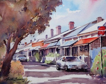 "Original watercolour painting ""McLaren Street, Adelaide, SA"""