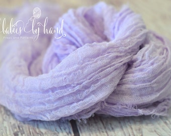 Newborn Photo Prop, Cheesecloth Wrap, Baby Cheesecloth Photo Prop, Baby Wrap Cheesecloth, Newborn Posing Prop LAVENDER Cheesecloth Baby Wrap