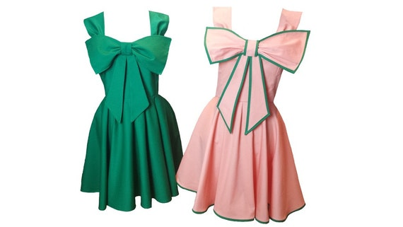 Kids 1950s Clothing & Costumes: Girls, Boys, Toddlers  Swing Circle Dress with Bow 1950s 1940s Vintage Bridesmaid Wedding - all sizes & Lots of other colours available!  AT vintagedancer.com