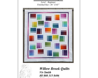 """Pattern """"Random 2"""" Quilt Pattern by Willow Brook Quilts (WBQ248) Paper Pattern"""