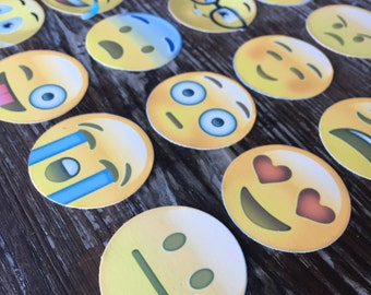 Emoji Edible Pre-Cut Images for Cupcakes Oreos Cookies and More