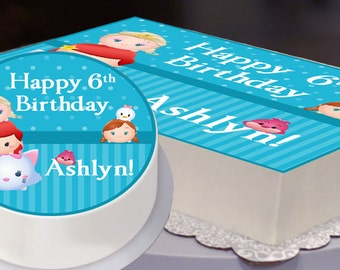 Edible Cake Topper, Tsum Tsum Party, Tsum Tsum Birthday, Tsum Tsum Cake Topper, Disney