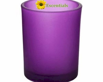 Purple Frosted Votive Candle Holder