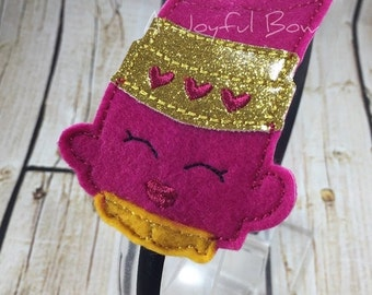 SALE Lipstick shopkin headband